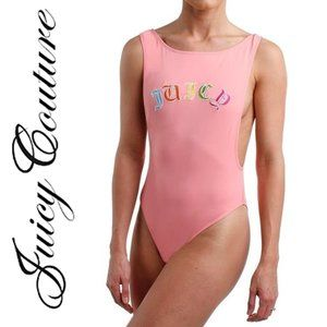 JUICY COUTURE LOGO 1-PIECE SWIMSUIT